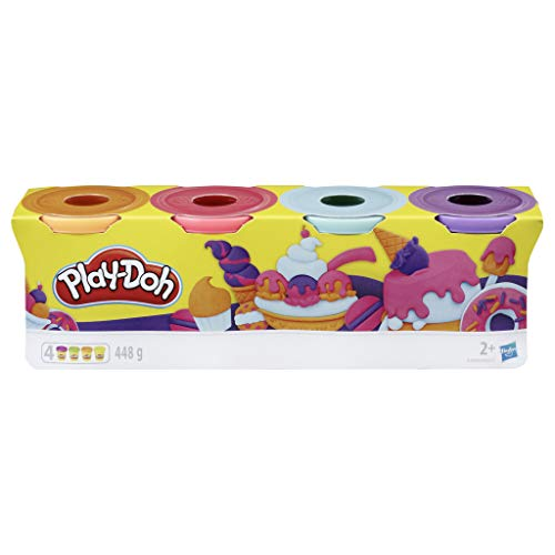 Play-Doh-Pack 4 Colores Dulces, (Hasbro E4869ES0)