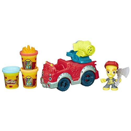 Play Doh - Camión de Bomberos con Botes de plastilina (Hasbro B3416EU4)