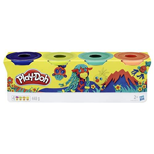 Play-Doh-Pack 4 Colores Silvestres, (Hasbro E4867ES0) , color/modelo surtido