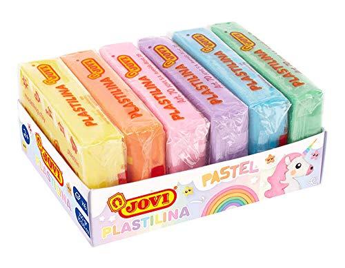 Jovi- Pack 6 Tacos plastilina 50gr Colores, Multicolor (70/6P)