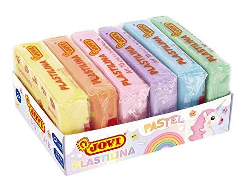 Jovi Pack de 6 plastilinas_Multicolor pastel_300 Gramos_(70/6P), color, 500