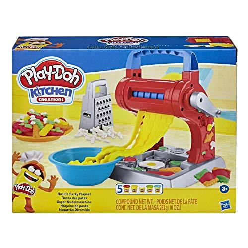 Play-Doh Kitchen Creations - Juego de fiesta de fideos para niños a partir de 3 años con 5 colores no tóxicos