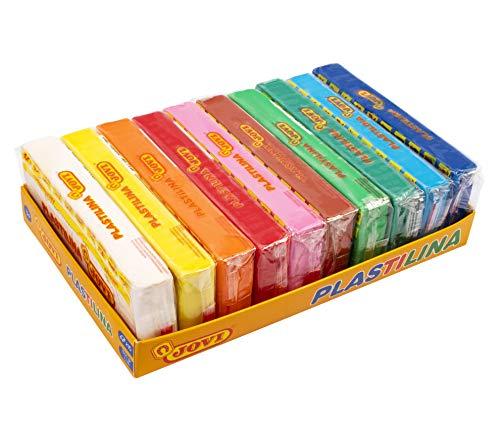 Jovi - Bandeja de plastilina, 10 pastillas 150 g, colores surtidos (71/10S)