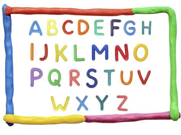 abecedario en ingles con plastilina