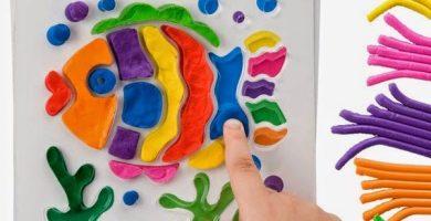 como hacer dibujos con plastilina