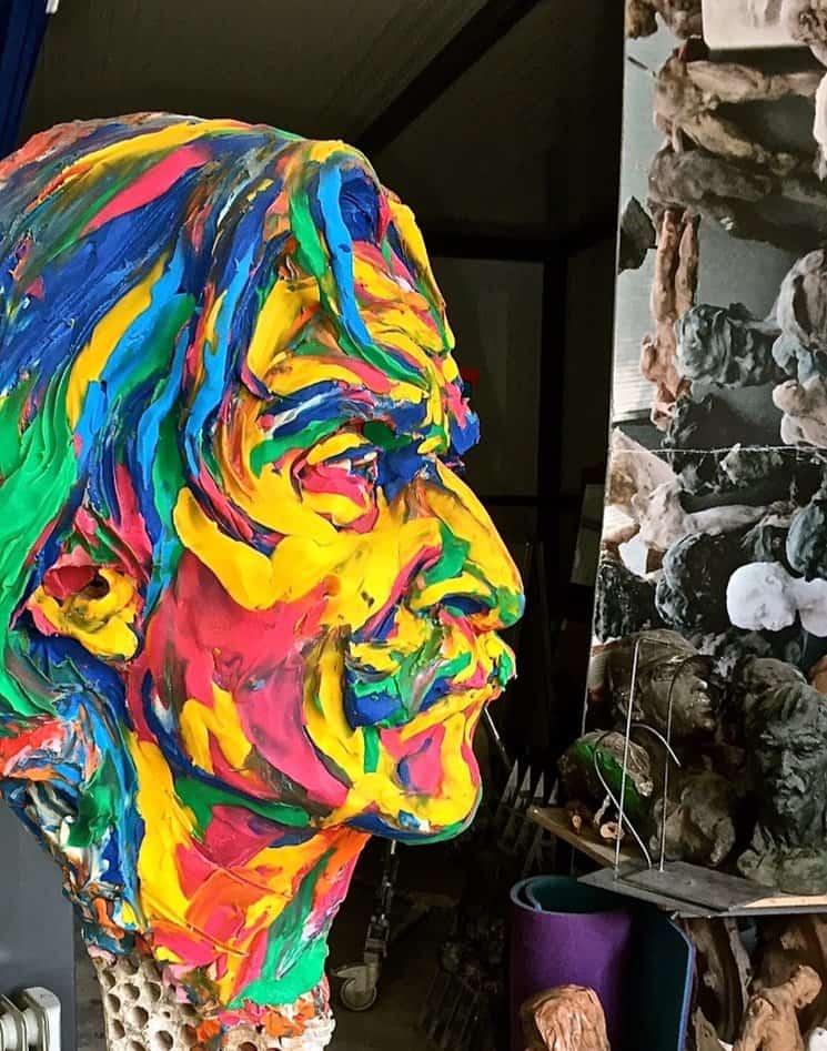 Miguel de la Quadra-Salcedo hecho en plastilina por Victor Ochoa