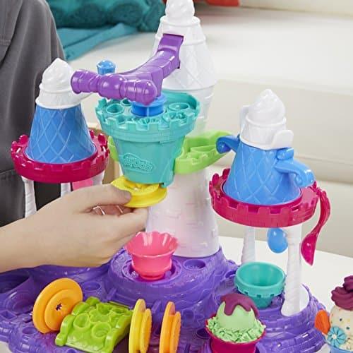 Play Doh Castillo de helados el juguete con plastilina mas divertido para los pequeños